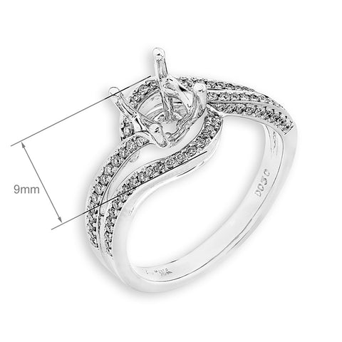 Semi-Mount Diamond Glamour Ring N02639R