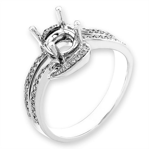 Semi-Mount Extra-Ordinary Diamond Ring N03065R