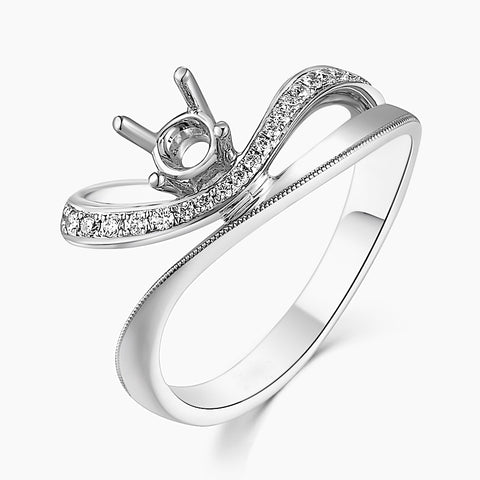 Semi-Mount Elegant Engagement Ring N03581R