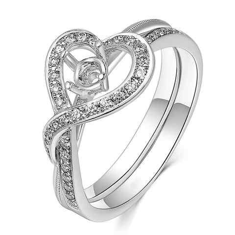 Semi-Mount Glamour Diamond  Ring N03601S