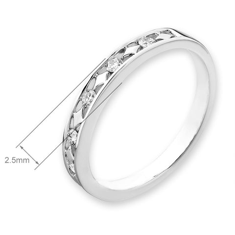 WEDDING BAND DIAMOND RING -P10578R