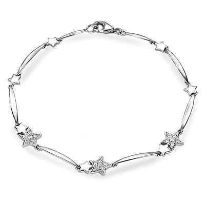 STAR STUD DIAMOND BRACELET - S01863B