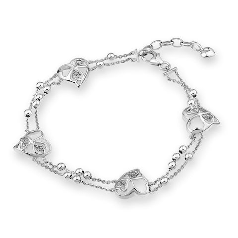 DIAMOND HEART BRACELET - S04815B