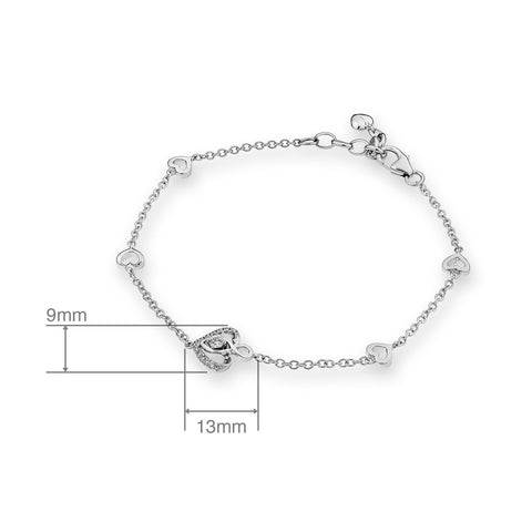 DIAMOND SIMPLE BRACELET - S06632B