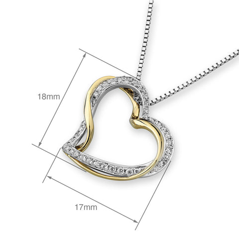WIRE WRAPPED HEART DIAMOND PENDANT - S06649P