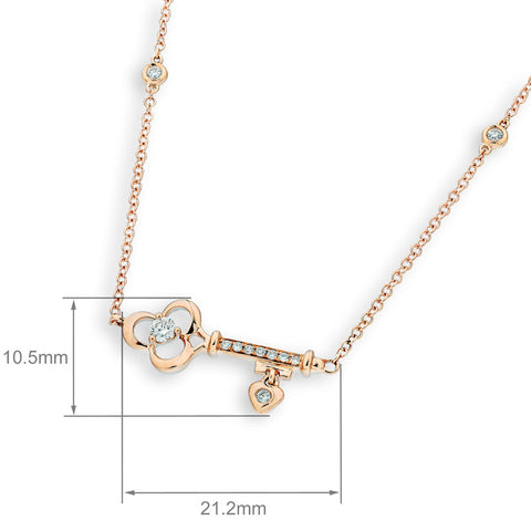 DIAMOND KEY NECKLACE - S07496N