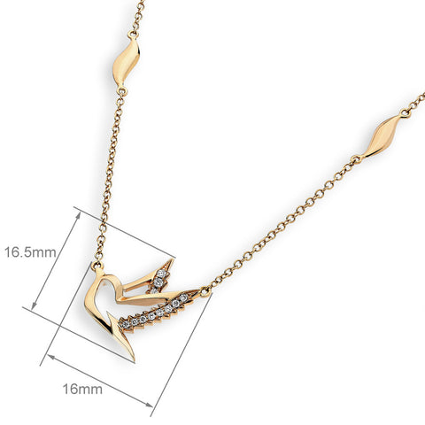 DOVE DIAMOND NECKLACE - S08103N