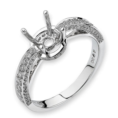 Semi-Mount Glamour Ring L01506R