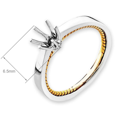 Semi-Mount Casual Wear Ring L01927R