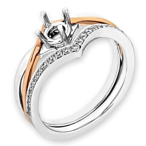 Semi-Mount Glamorous Evening Ring L02153S