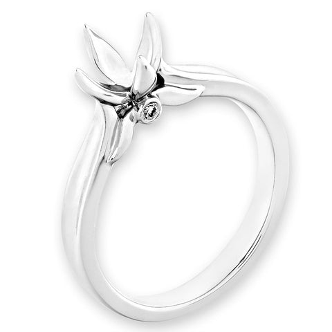 Semi-Mount Solitaire Lotus Prong Ring L02323R