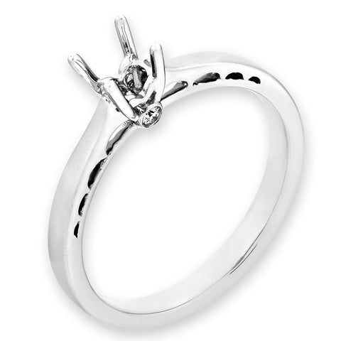 Semi-Mount Simple Solitaire Ring L02327R