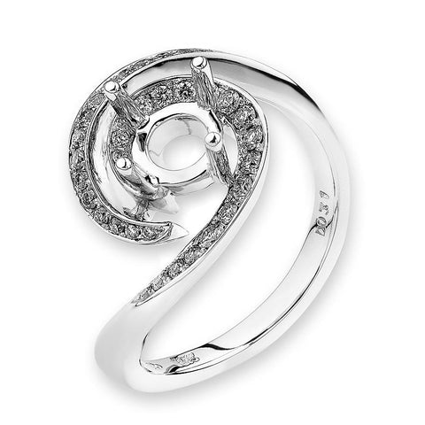 Semi-Mount Elaborate Diamond Ring N02641R