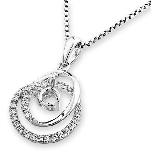 Semi-Mount Diamond Pendant N03203P