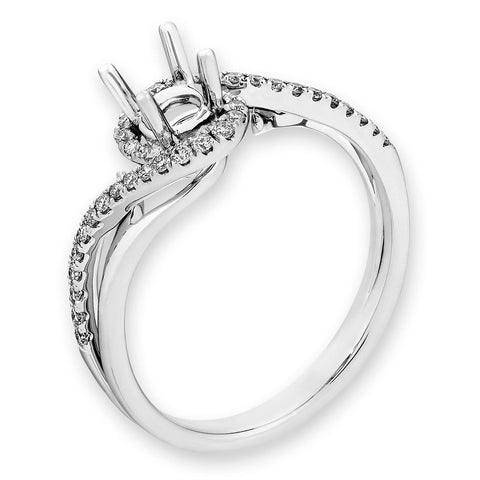 Semi-Mount Elegant Engagement Ring N03308R