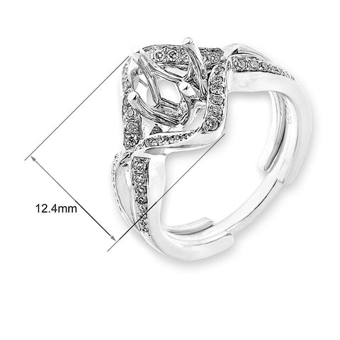 Semi-Mount Elaborate Diamond Ring S07122S