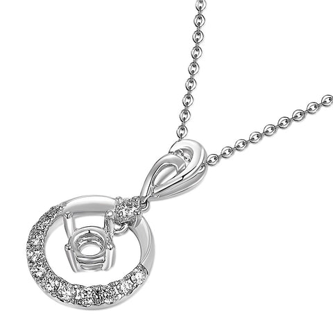 Semi-Mount Diamond Pendant N03426P