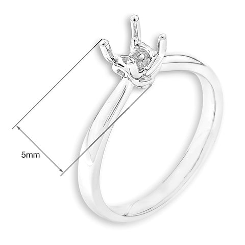 Solitaire Semi-Mount Ring F06199R
