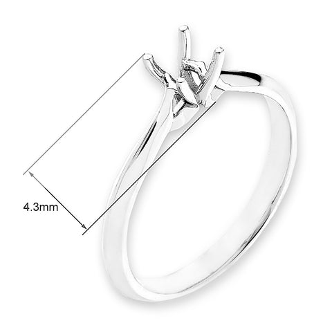 Solitaire Semi-Mount Ring F06338R
