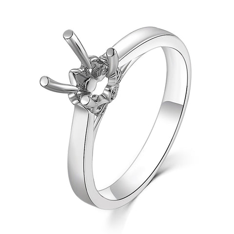 Semi-Mount Plain Solitaire Engagement Ring L02629R