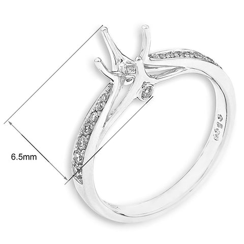 Semi-Mount Elegant Engagement Ring L01818R