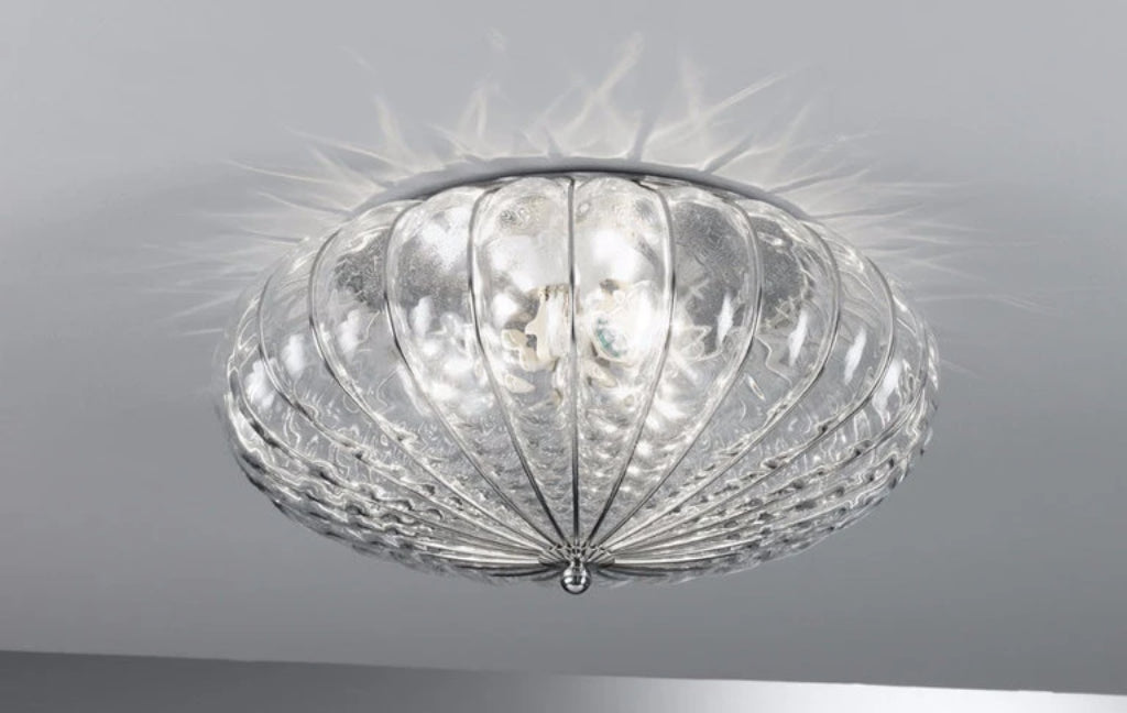 Accademia Clear Quilted Chrome - Ceiling - Siru