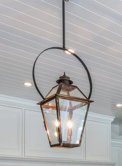 Classic Copper Lantern - Hanging With Bail (half yoke) - Pendant - Tower Lighting