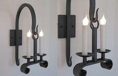 Iron Hook Sconce