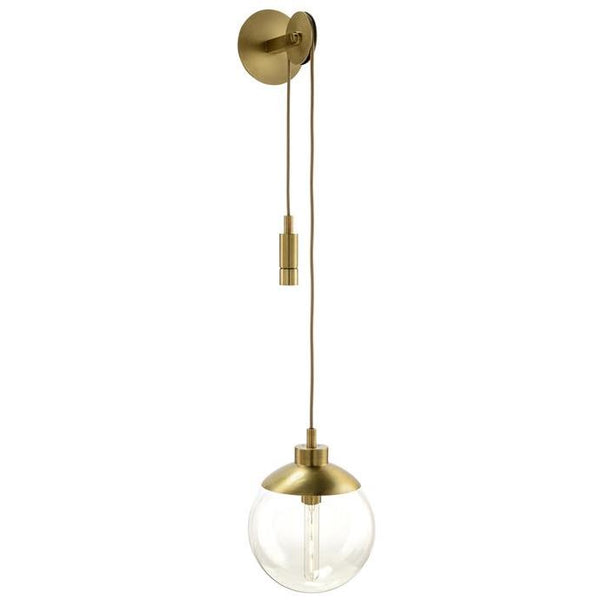 Glass Globe Pulley Sconce