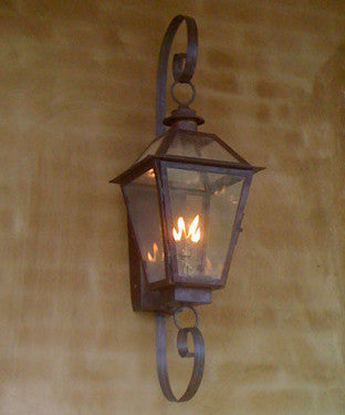 Classic Copper Lantern with Scrolls