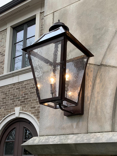 Classic Copper Lantern - Copper Wall Mount - Outdoor - Tower Lighting