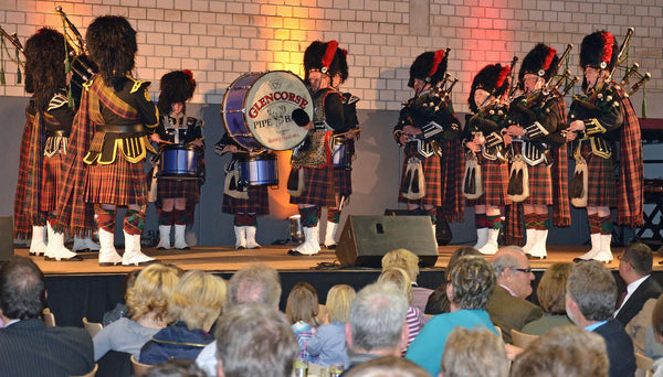 Glencorse Pipe band in Wegberg, Germany