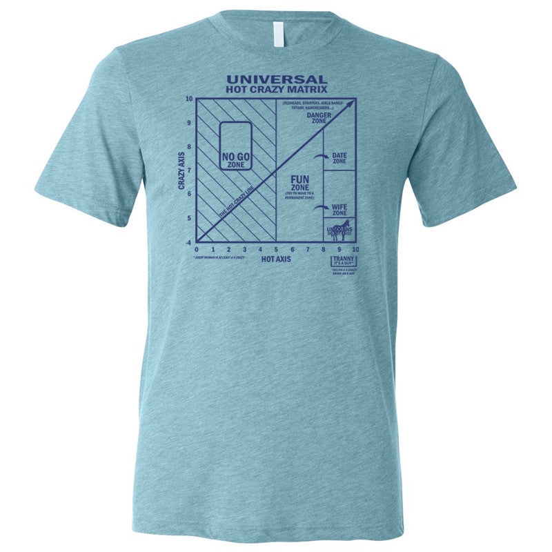 Hot Crazy Matrix T-Shirt (Aqua)