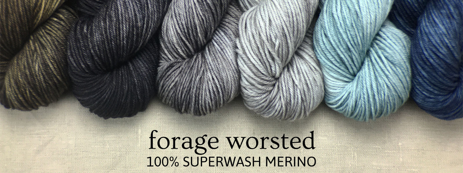 Forage Worsted Superwash Merino Hand Dyed Yarn