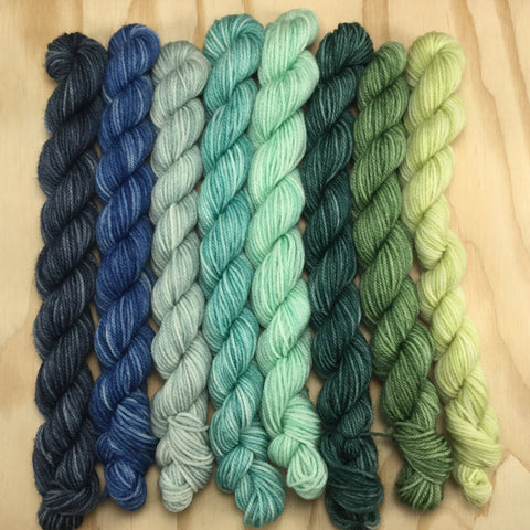 Wellspring Catkin Mini Skein Bundle - Oregon Coast