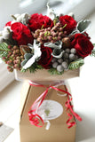 FF - 2020-12 - DECEMBER 18th - Red and Silver Holiday Bouquet - PREMIUM SIZE
