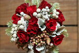 FF - 2020-12 - DECEMBER 4th - Red and Silver Holiday Bouquet - REGULAR SIZE