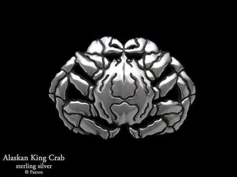 Alaskan King Crab Belt Buckle sterling silver
