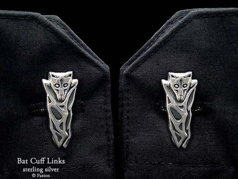 Bat Cuff Links sterling silver