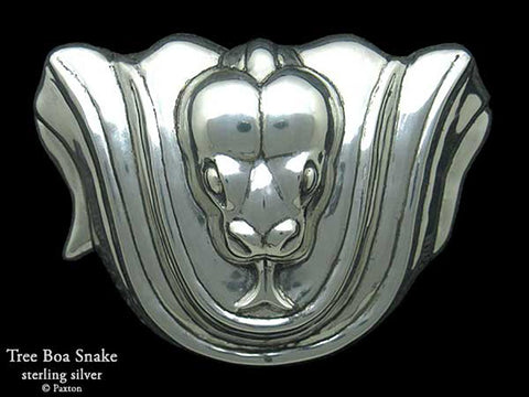 Snake Belt Buckle sterling silver