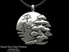 Peace Bonsai Pendant Necklace sterling silver