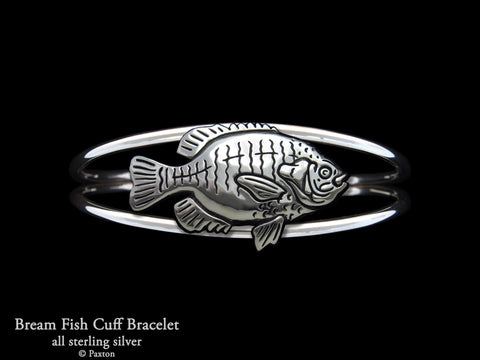 Bream Fish Cuff Bracelet Sterling Silver
