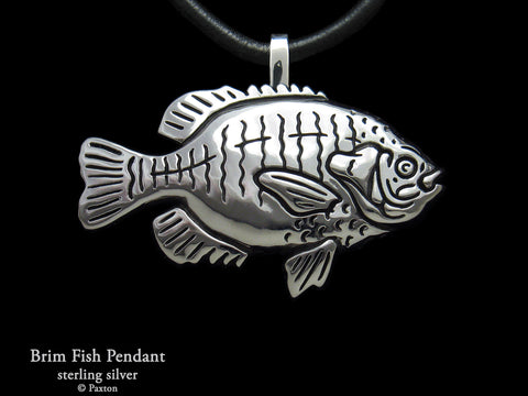 Bream Fish Pendant Necklace Sterling Silver