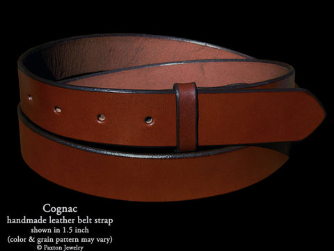 Cognac Brown Genuine Leather Belt Strap