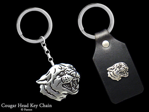 Cougar Panther Key Chain Sterling Silver