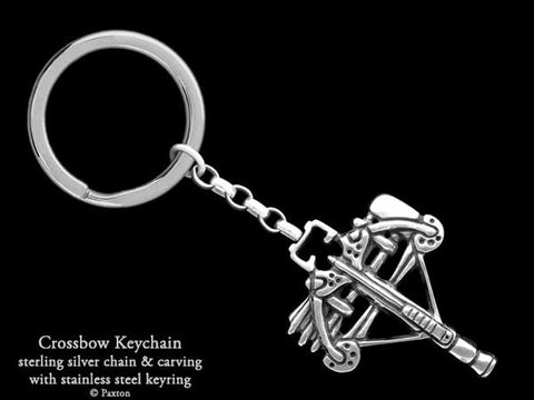 Crossbow Key Chain Sterling Silver