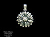 Daisy Flower Charm Necklace sterling silver