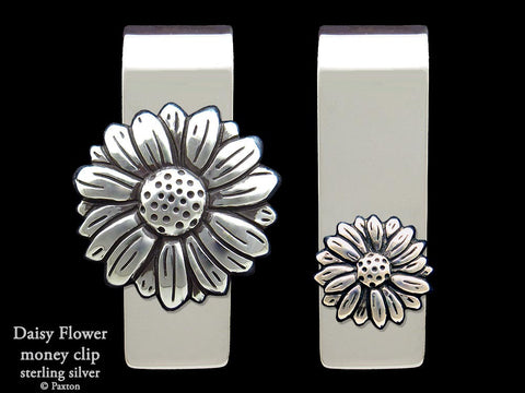 Daisy Flower Money Clip