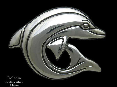 Dolphin Belt Buckle sterling silver