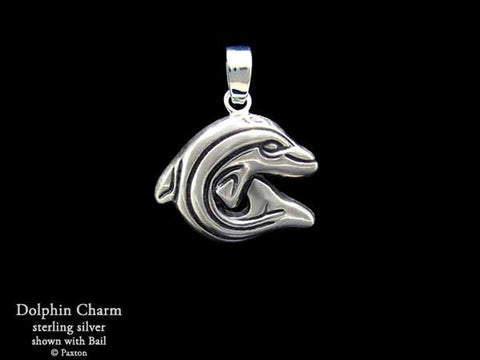 Dolphin Charm Necklace sterling silver